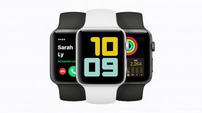 Apple Watch Series 3 v bílé a černé barvě