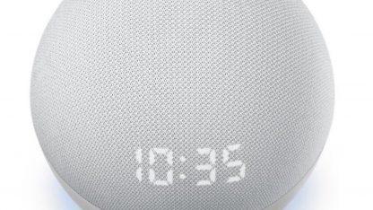Hodiny na Amazon Echo 4