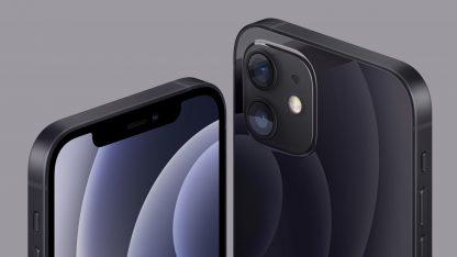 Detail fotoaparátu telefonu iPhone 12