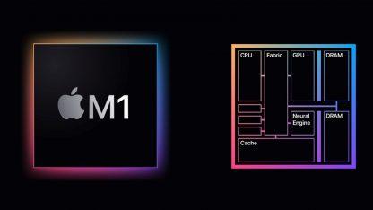 Rozložení čipu Apple M1