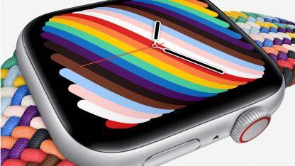 Detail displeje Apple Watch LTE