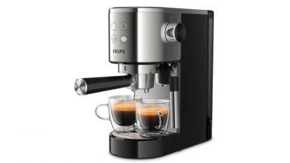 Stylový pákový kávovar Krups VIRTUOSO XP442C11