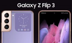 koncept samsung galaxy z flip 3 - zepředu a zezadu