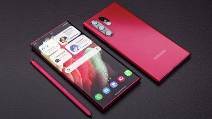 Samsung Galaxy S22 Ultra: render